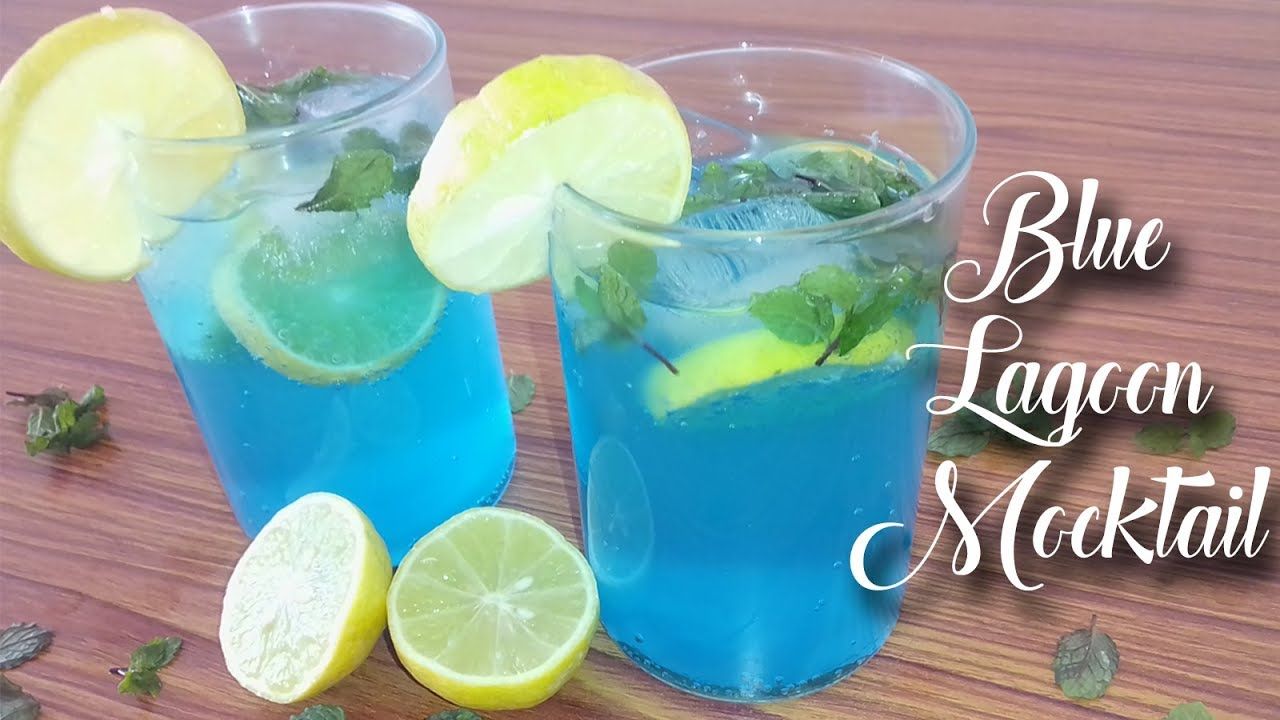 How To Make Blue Lagoon Mocktail Non Alcoholic Mocktail