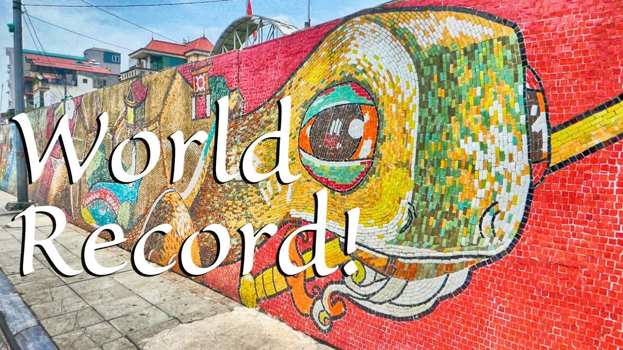 World Largest Mosaic Wall - World Record In Hanoi - YouTube