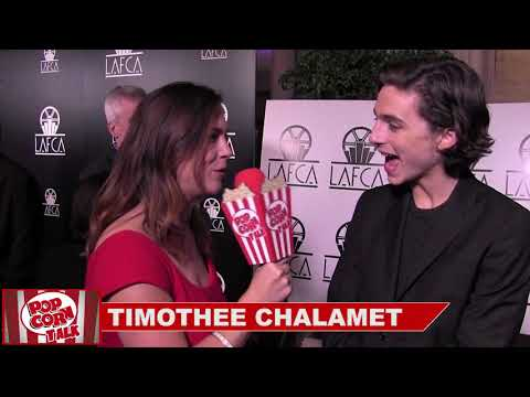 Timothee Chalamet at the 43rd LA Film Critics Association Awards