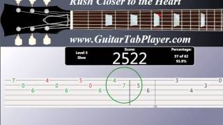 Easy way  to learn Rush - Closer to the heart (Guitar Tab)