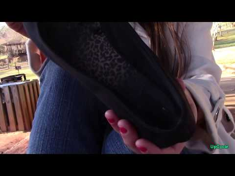 Upcycle: Natalie's high school ballet flats review (sold)