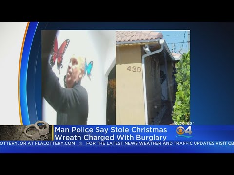 Curtis - Miami Man Gets Caught On Doorbell Cam Stealing Neighbors Wreath