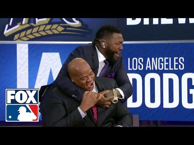 David Ortiz's incredible reaction to Jackie Bradley Jr.'s Grand Slam | FOX MLB