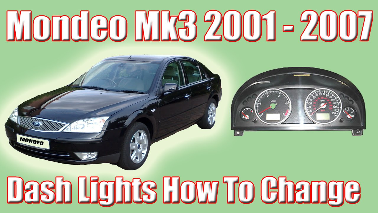 Part 1 Ford Mondeo Mk3 How To Change The Dash Lights And Removing Clocks 2002 Headlight Wiring Diagram Youtube