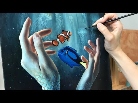"""Oil Painting Time Lapse 