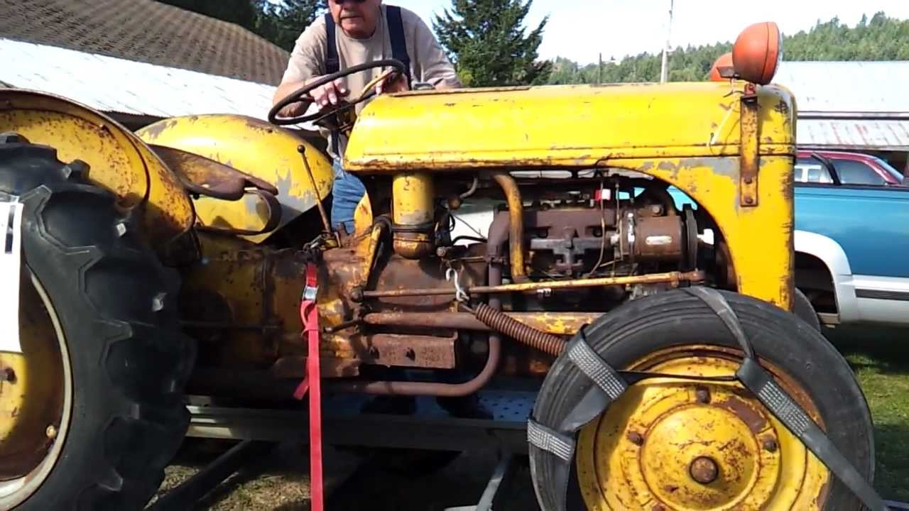Starting a 1942 Ford 9N tractor  YouTube