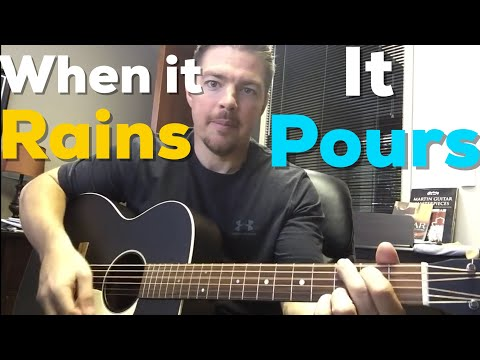 When It Rains It Pours | Luke Combs | Beginner Guitar Lesson