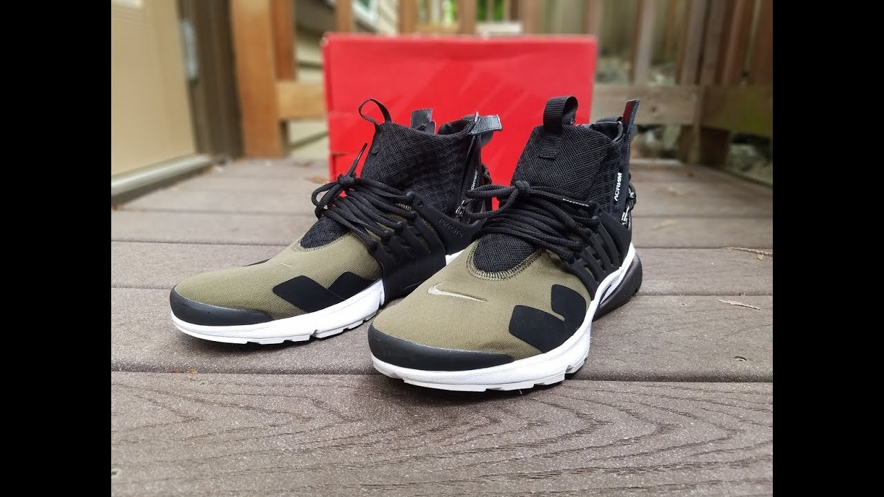 2018 sneakers order best supplier $60 Acronym x Nike Air Presto 'Olive' Review