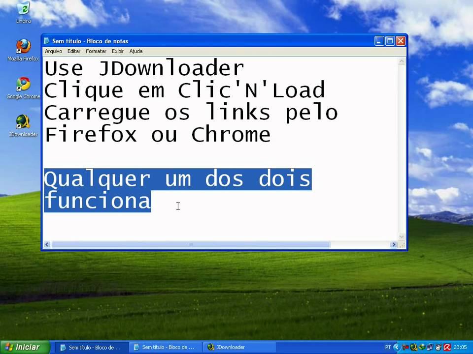 JDownloader Click'N'Load demostration - Free mode ...