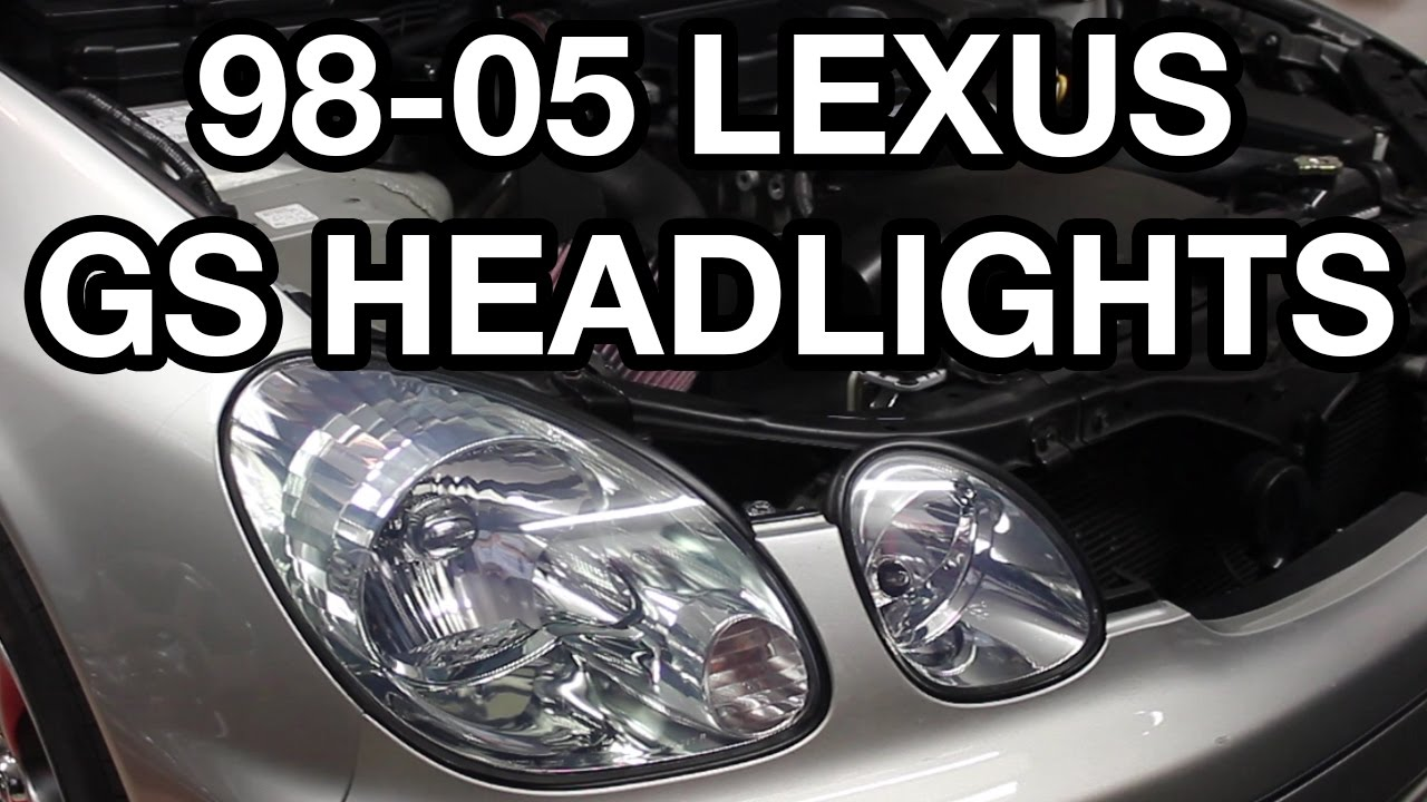 1998 2005 lexus gs halogen headlight bulb replacement [ 1280 x 720 Pixel ]