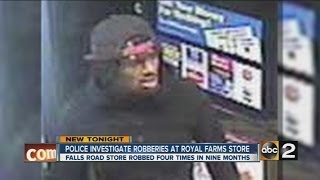 Police investigate multiple robberies at Royal Farms store in Baltimore