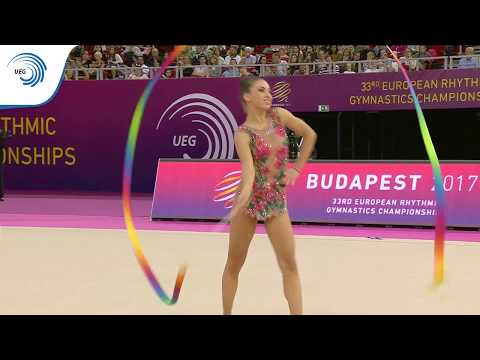 Katrin TASEVA (BUL) – 2017 European silver medalist with Ribbon