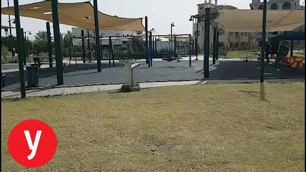 תיעוד: גן המשחקים בקלנסווה שבו בת 10 נפגעה מירי