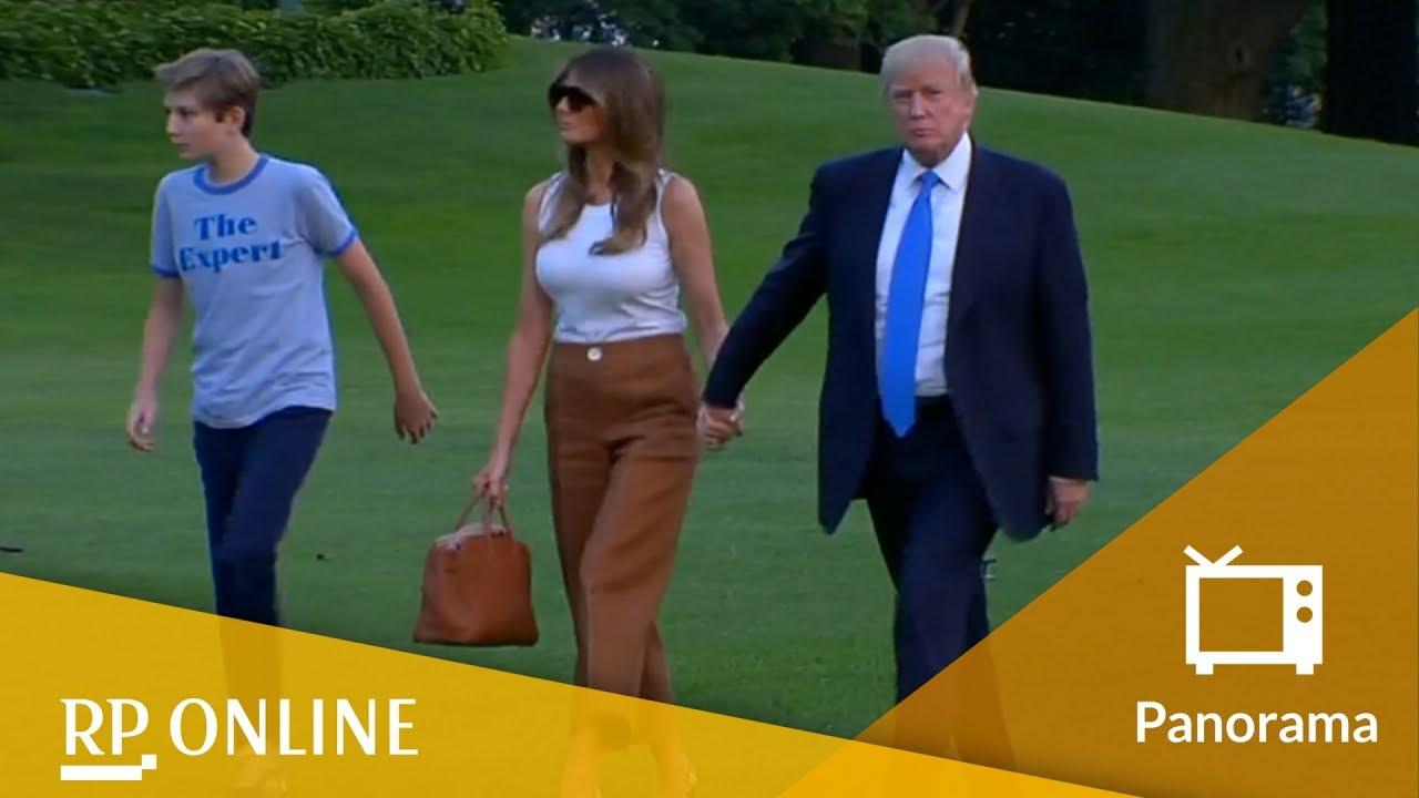 Einzug Ins Weisse Haus Barron Trump Stiehlt Vater Donald Die Show