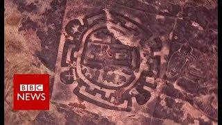 Stunning aerial shots of India's prehistoric art - BBC News