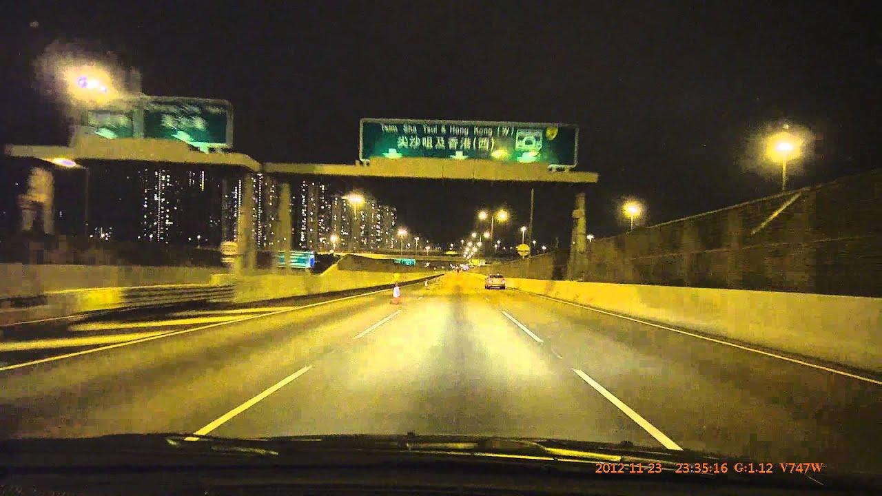 V747W 香港 葵涌 3號幹線 晚上 無雨 測試片 - YouTube