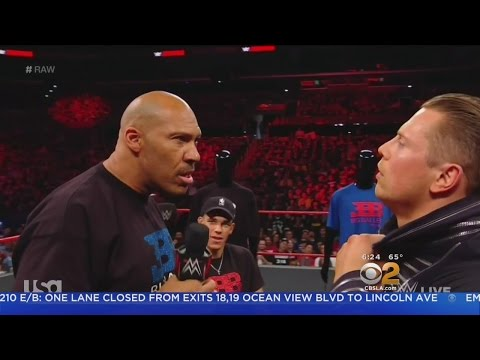 LaVar Ball Shows Out In WWE Wrestling Ring