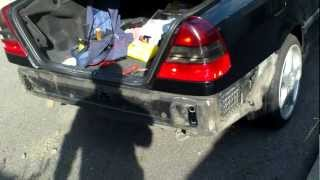 Mercedes Benz c class w202 how to remove the back bumper