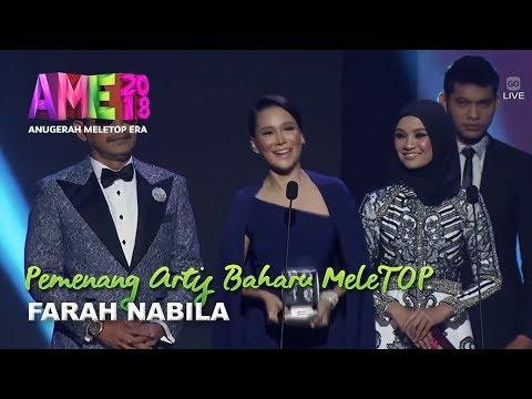 #AME2018 I Farah Nabila | Pemenang Artis Baharu MeleTOP I Anugerah MeleTOP Era 2018