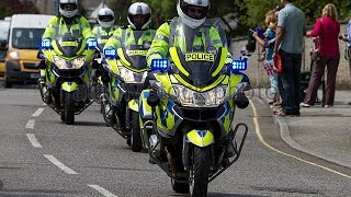 UK Police Escort  Military  Convoy