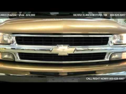 2003 Chevrolet Tahoe Lt For Sale In Ruidoso Nm 88355