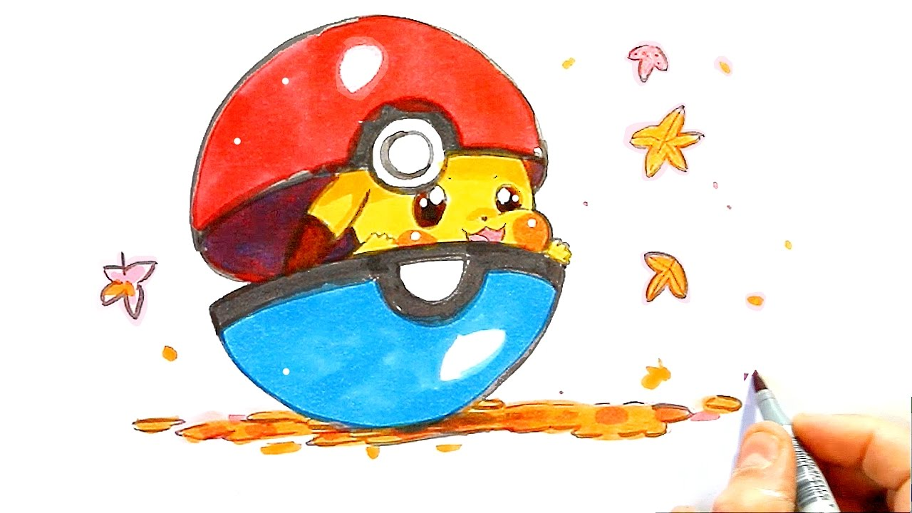 Pikachu Dessin Facile Dessin Pokemon Comment Dessiner Un Pokemon Kawaii