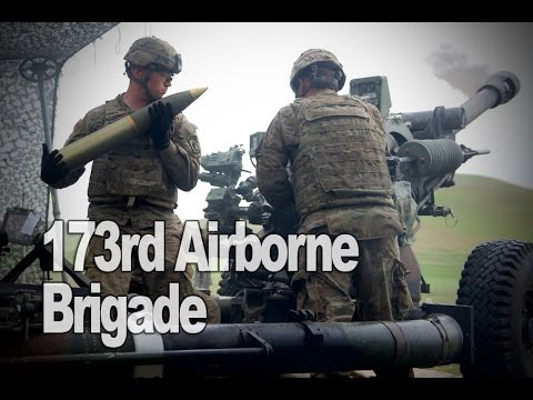 173rd Airborne Brigade Firing Artillery at Noble Partner