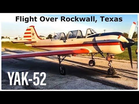 Yak-52 Flight Over Rockwall/Kaufman County, Texas