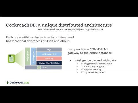 The architecture of a Distributed SQL Database - 2020 Update