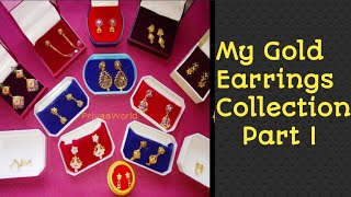 My Gold Earrings Collection Part I PriyaaWorld#145