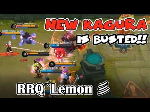 RANK 1 KAGURA - RRQ`Lemon 彡 | THE NEW KAGURA IS BUSTED! | INSANE DAMAGE (Mobile Legends)