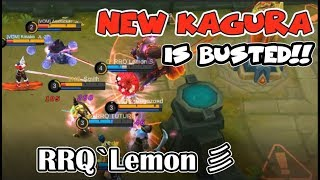 RANK 1 KAGURA - RRQ`Lemon 彡 | THE NEW KAGURA IS BUSTED! | INSANE DAMAGE (Mobile Legends)
