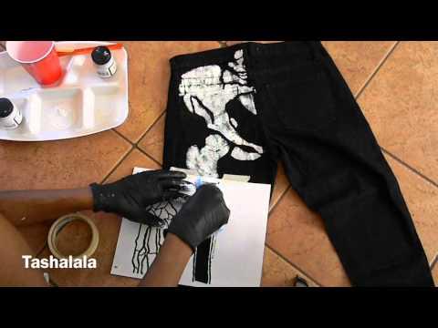 DIY X-Ray Jeans (Skeleton Print)