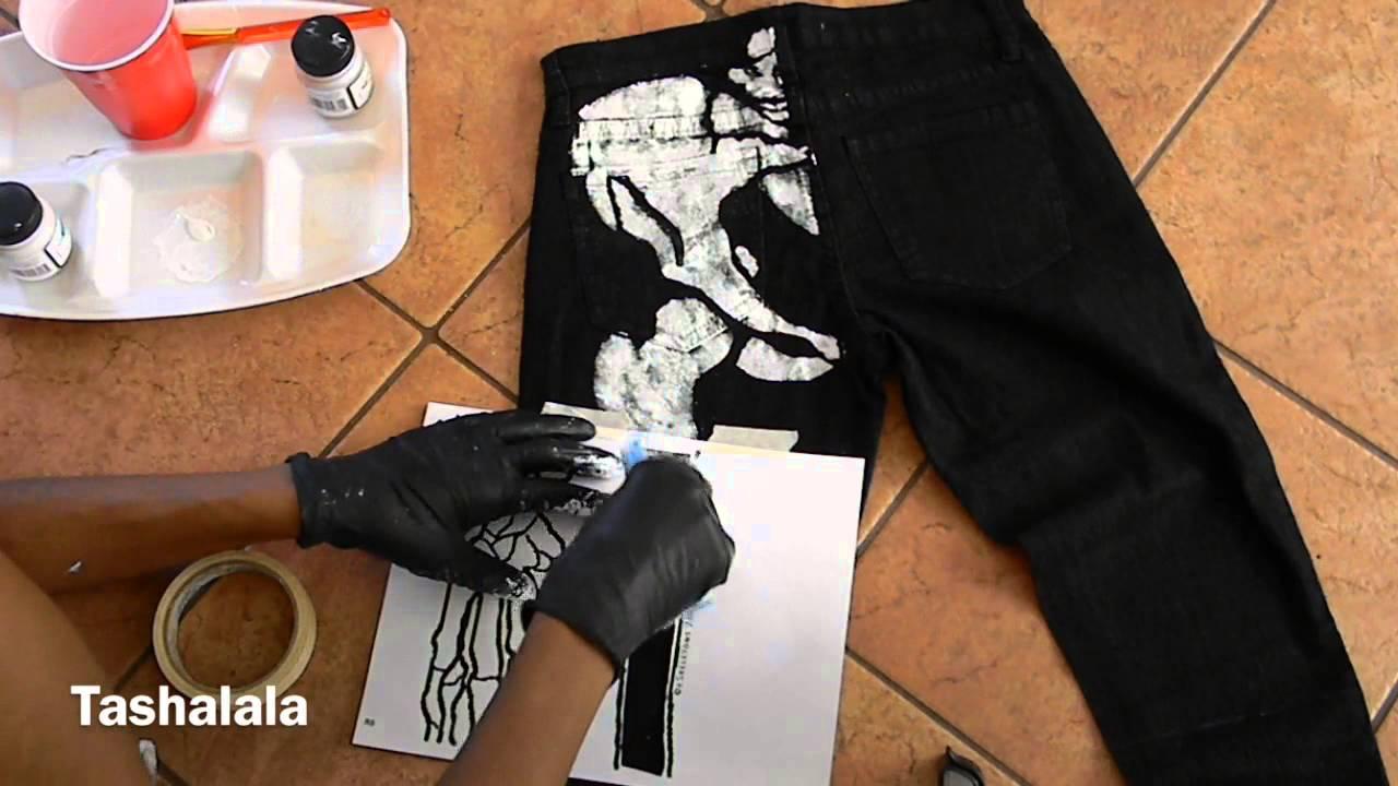Diy X Ray Jeans Skeleton Print Youtube