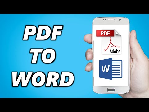 How to Convert PDF to Word Document in Mobile!