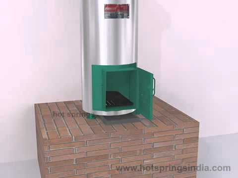 Fire Wood Water Heater By Hot Springs - YouTube