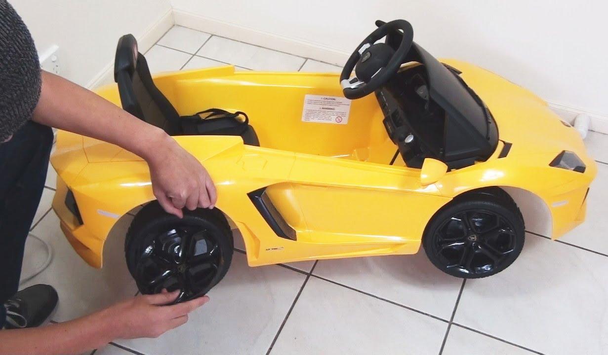 lamborghini aventador ride on toy car remote control unboxing diy lp700 4