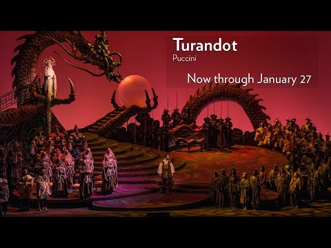 Puccini's TURANDOT at Lyric Opera of Chicago. Onstage Now through January 27