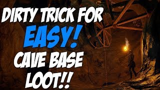 RUST | USING A LEGIT DIRTY TRICK TO GET LOOT FROM A CAVE BASE!