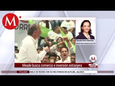 Entrevista a Claudia Ruiz Massieu sobre campaña de Meade