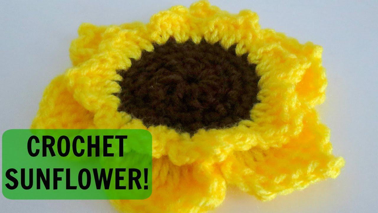 Crochet Sunflower Tutorial Youtube