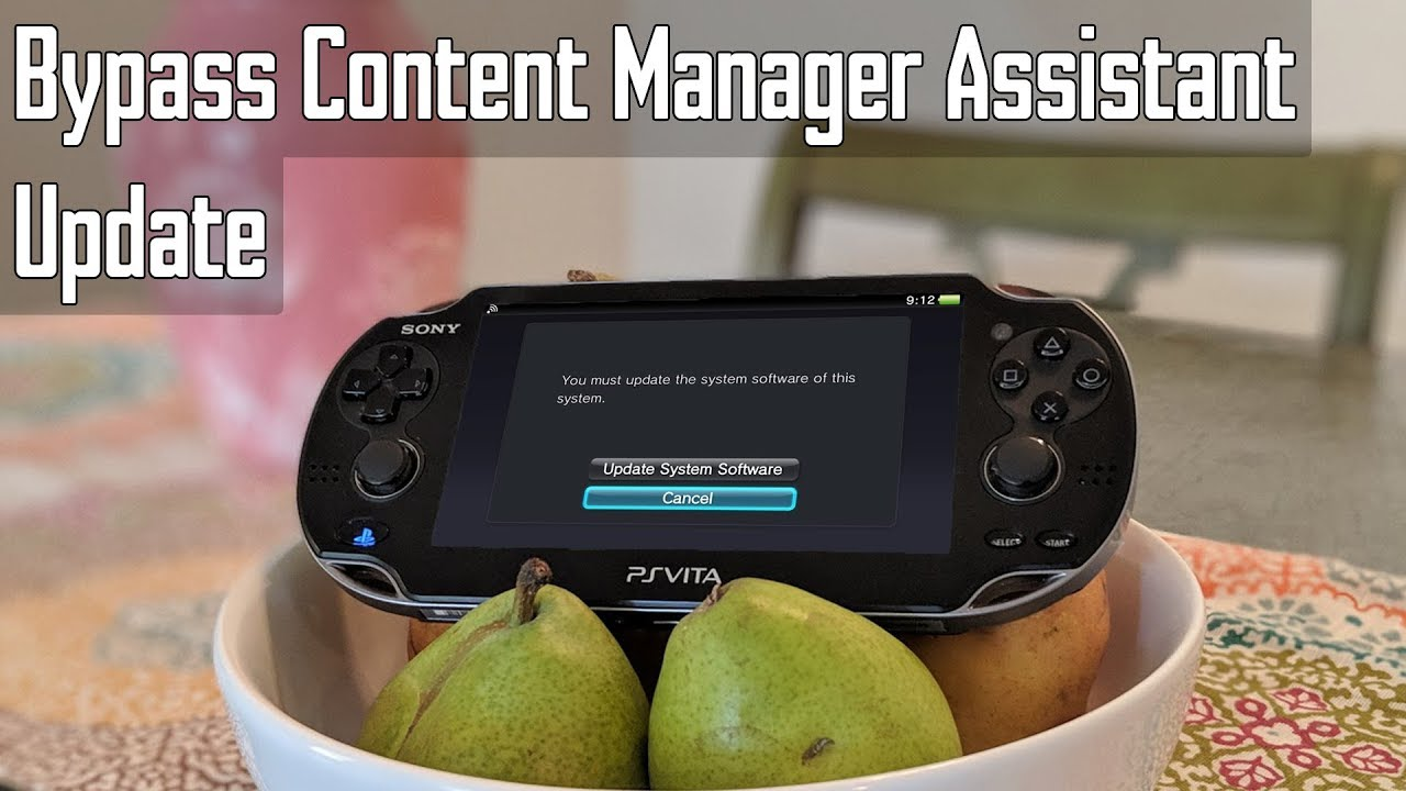 Playstation Vita: Bypass Content Manager Assistant Update
