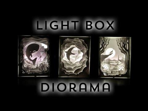 Illuminated Cut Paper Light Boxes Diorama