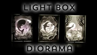 Illuminated Cut Paper Light Boxes Diorama