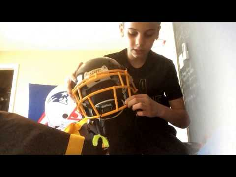 New football equipment kid quarterback