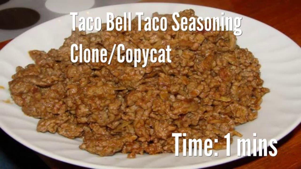 Taco Bell Taco Seasoning Clone Copycat Recipe Youtube
