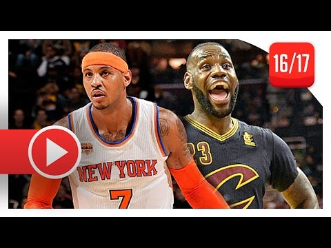 LeBron James vs Carmelo Anthony SUPERSTARS Duel Highlights (2016.10.25) Cavaliers vs Knicks - SICK