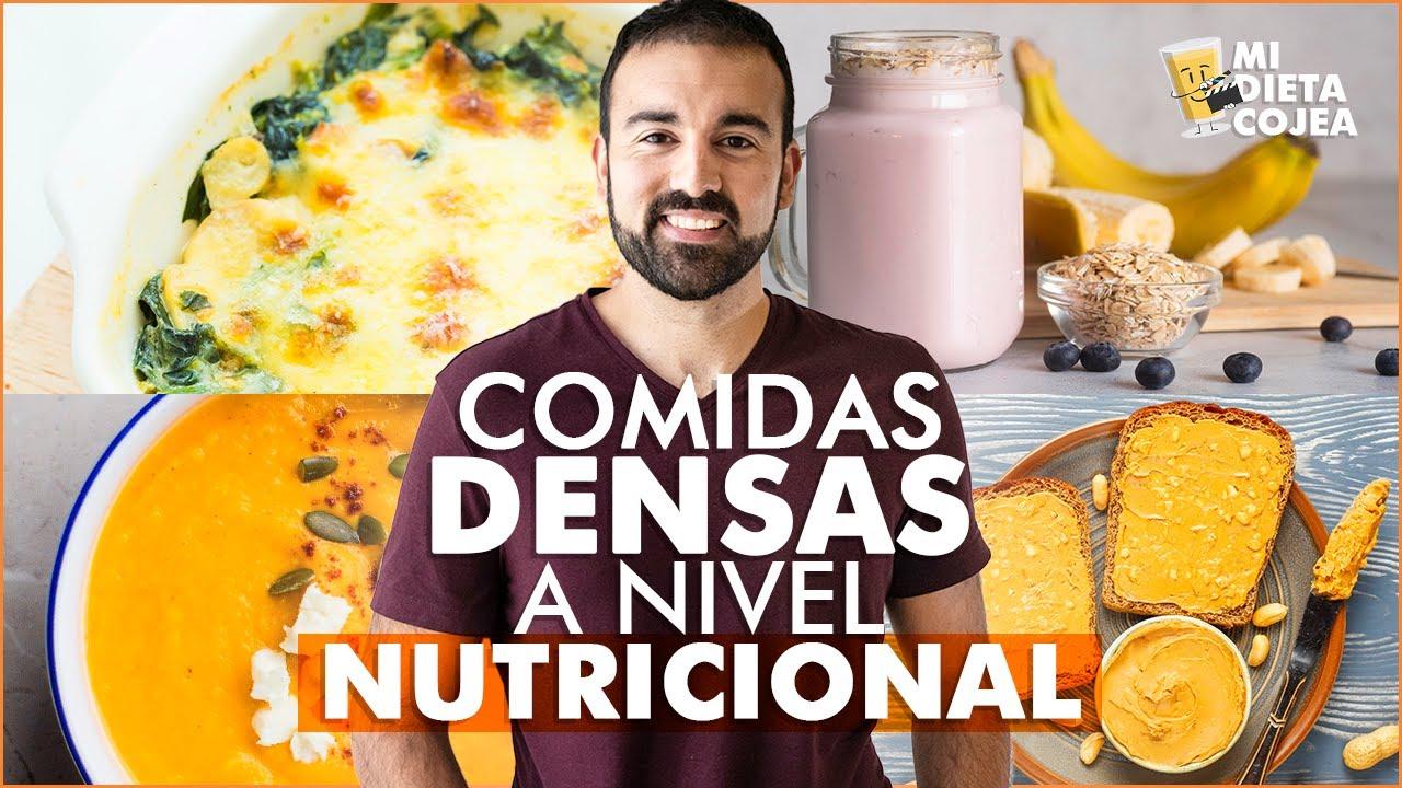Ganar peso de forma saludable: Comidas densas nutricionalmente