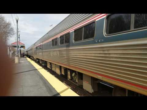 Amtrak's Downeaster entering Haverhill Station