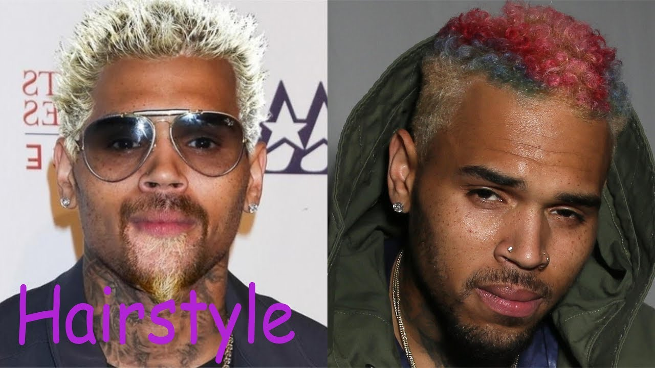 chris brown hairstyle (2018)